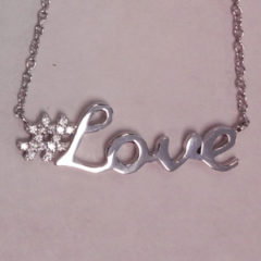 White Silver Love Pendant
