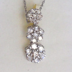 14K White Gold 1.00 Ct Diamond Pendant