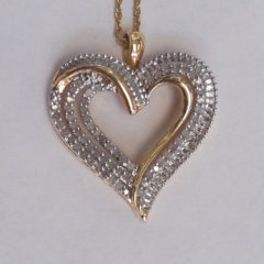 10K Yellow Gold 0.50Ct Diamond Hart Pendant